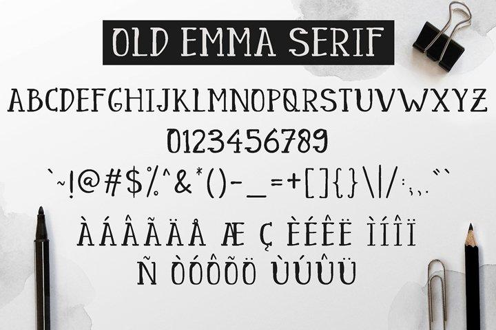 Old Emma - Free Font of The Week Design5