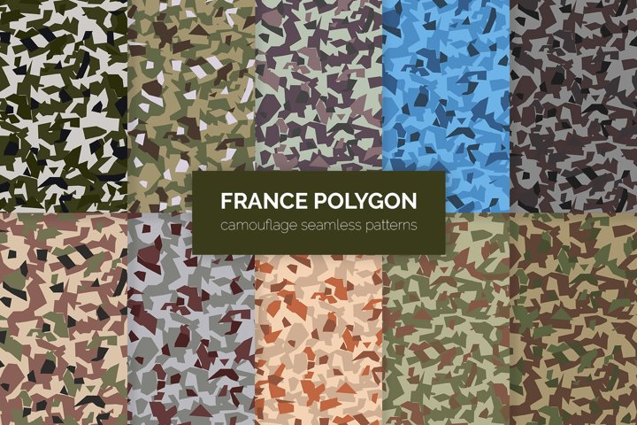 France Polygon Camouflage Patterns