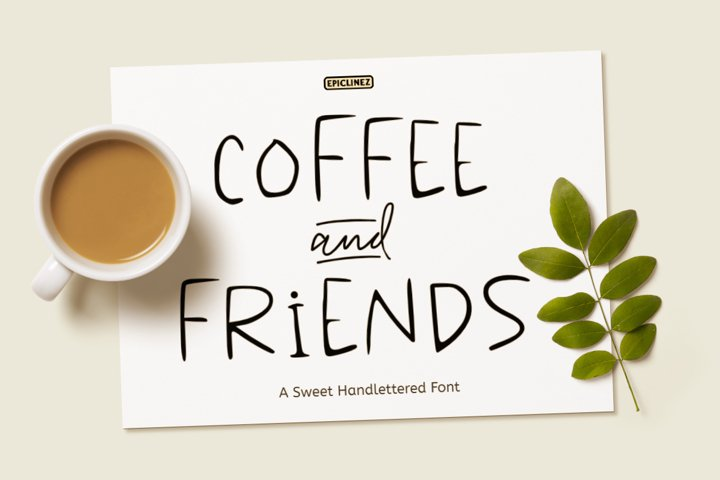 Coffee & Friends - A Sweet Hand-lettered Font