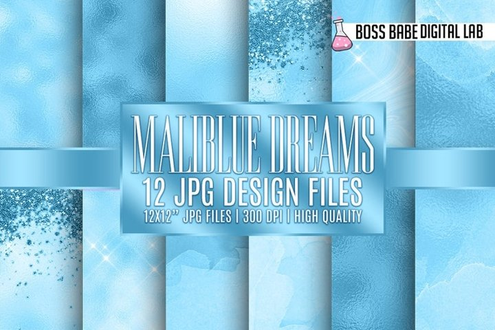 12 Maliblue Dreams Digital Papers