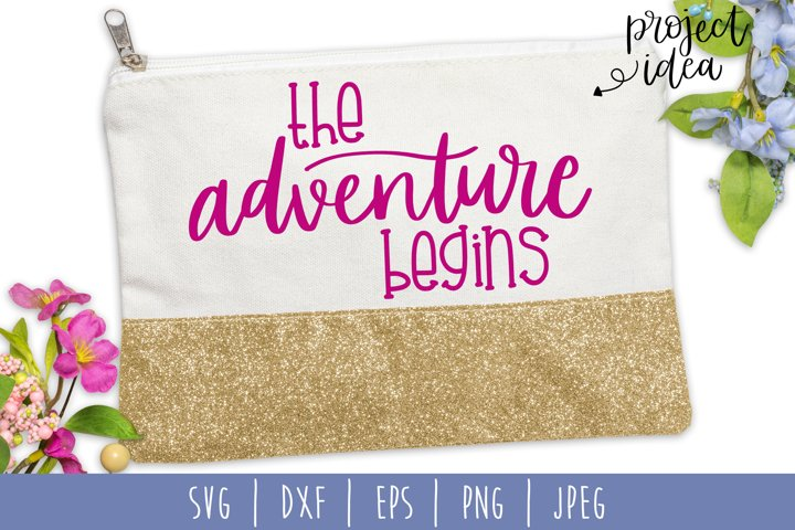 The Adventure Begins thSVG, DXF, EPS, PNG, JPEG example