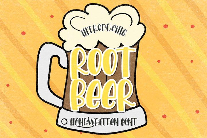 Root Beer - A Funny Handwritten Font