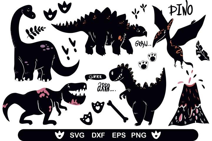 Dinosaur svg files Dinosaur clipart svg files T-rex dinosaur