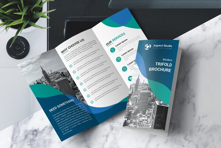 Business Growth Tri-fold Brochure Template