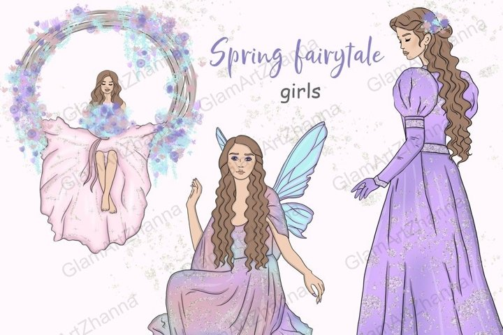 Spring Fairytale GIRLS Princess Magical Cute Stickers - PNG