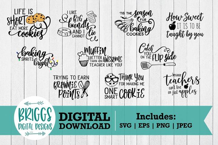 Thank You Teacher SVG Bundle | 10 Pot holder Cut Files
