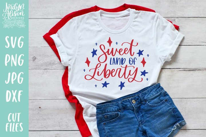 Sweet Land of Liberty, Military SVG Cut File