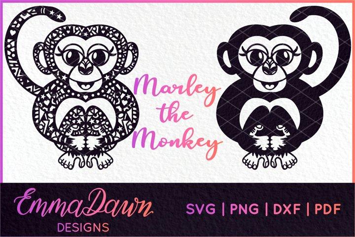 4 MONKEY MANDALA / PATTERN DESIGNS SVG, DXF, PNG, PDF, FCM