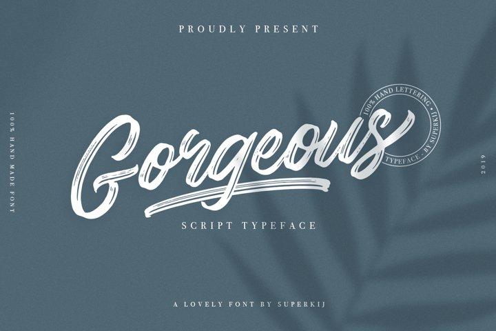 Gorgeous - Script Typeface