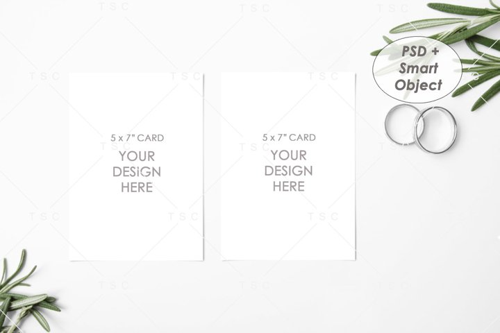 Wedding Suite Mockup / 5 x 7 Card