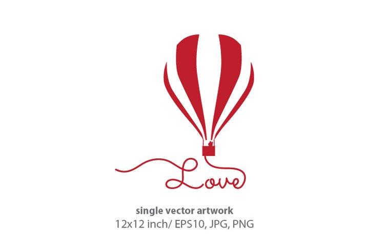 love balloon - VECTOR ARTWORK