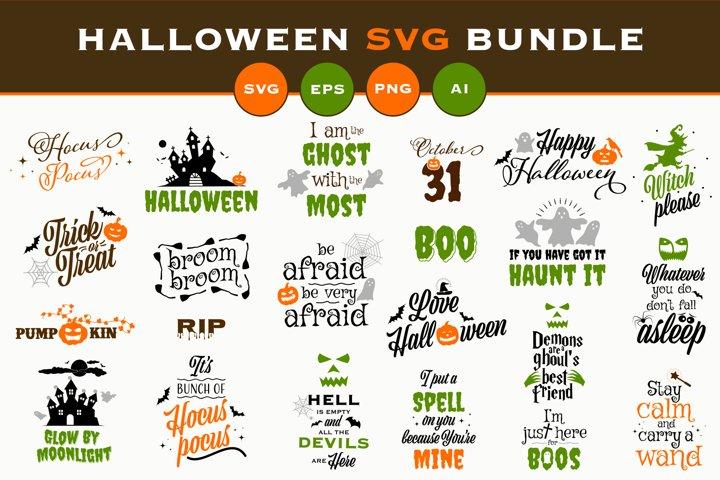 Halloween SVG Bundle SVG, EPS, PNG, AI