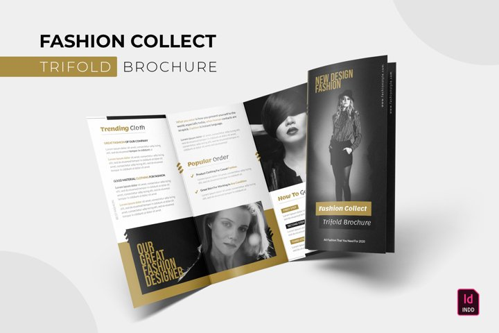 Fashion Collect | Trifold Brochure