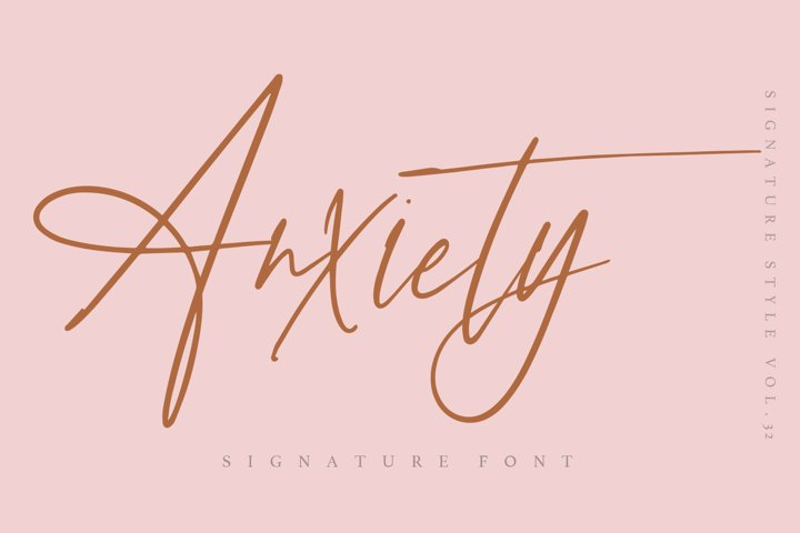 Anxiety - Signature font