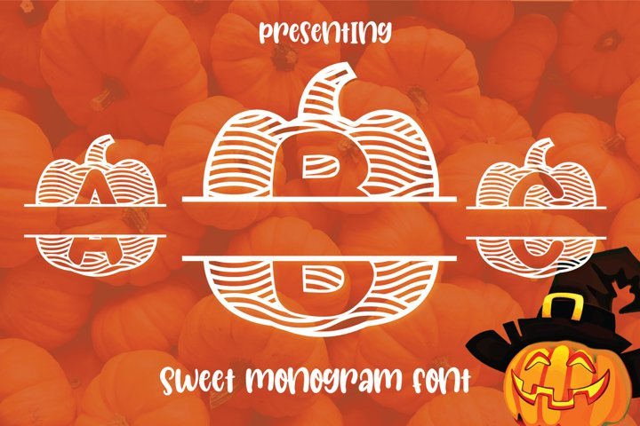 Pumpkin Monogram Font for Halloween