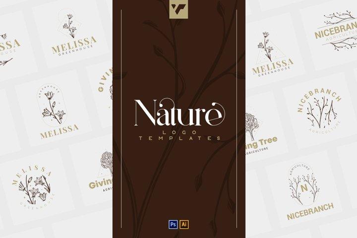 12 Nature Logo Templates - Ai, Ps