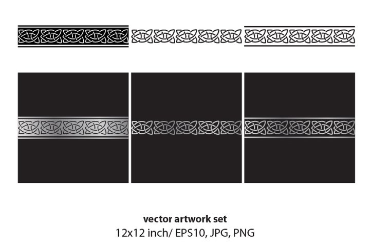Simple Celtic Border - VECTOR ARTWORK SET