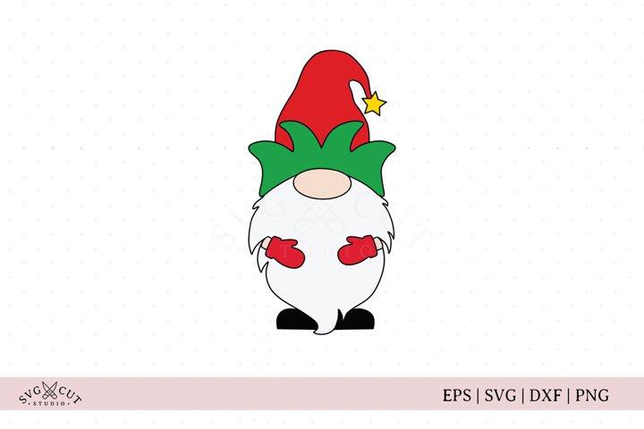 Christmas Gnome SVG, Elf Gnome SVG cut file
