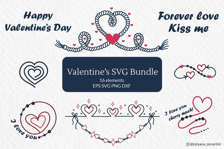 Valentines SVG Bundle, Valentines day SVG clipart for cricut