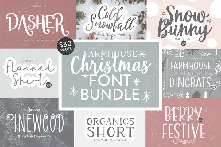 FARMHOUSE CHRISTMAS FONT BUNDLE - Dixie Type Co.