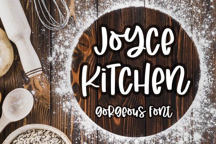 Joyce Kitchen - Gorgeous Quirk Font -