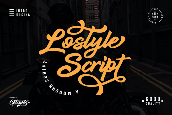 Lostyle Script | A bold handwritten font