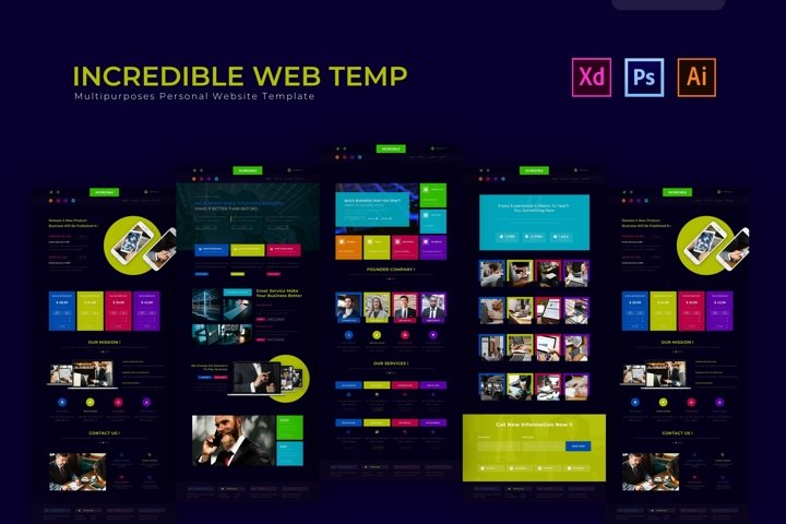 Incredible   Web Template