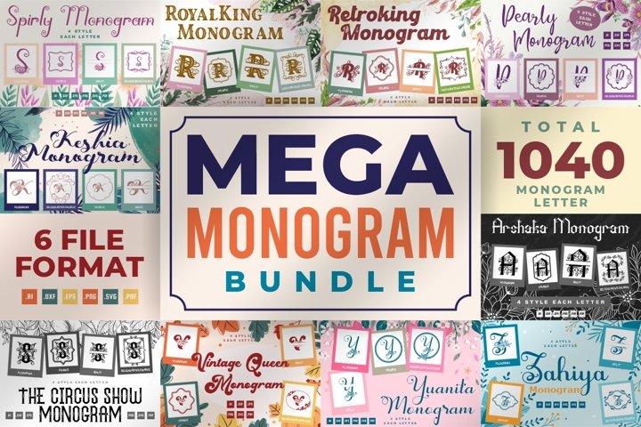 Mega Monogram Bundle - 1040 Total Monogram Letter