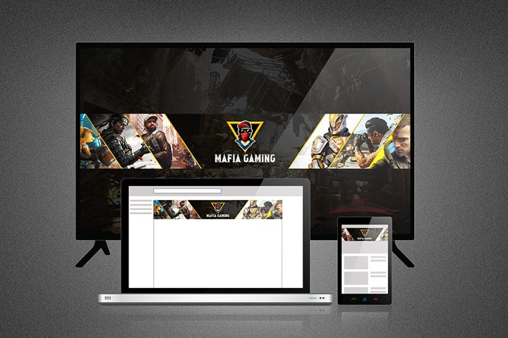 Mafia Gaming Youtube Channel Art and Thumbnail