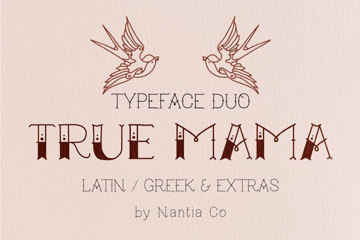 True Mama | Typeface Duo - Free Font of The Week Font