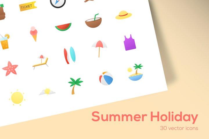 Summer Holiday - Icons Set