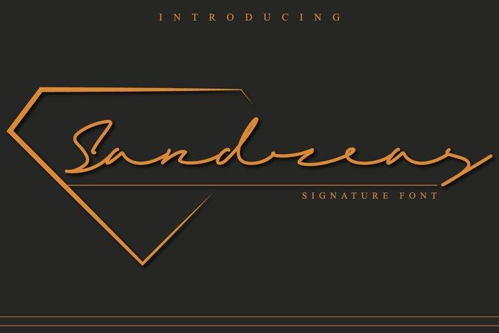 Sandreas - Luxury Signature Font