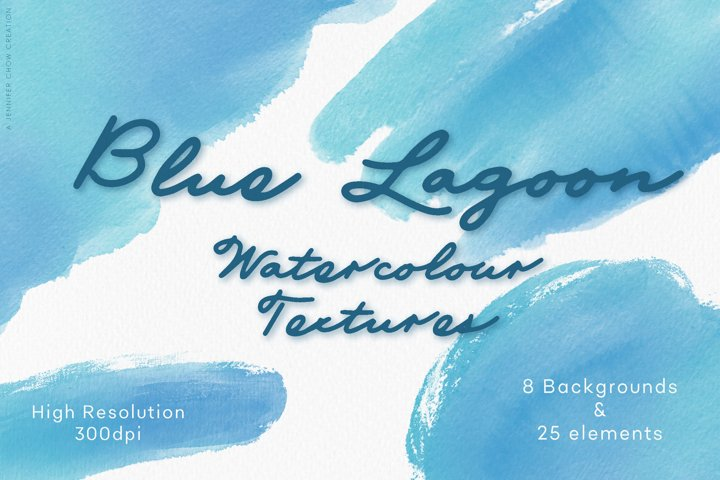 Abstract Watercolor Textures | Blue Lagoon