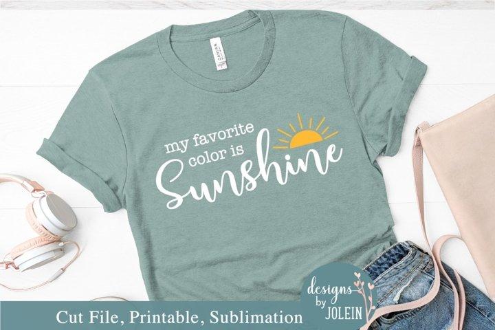 My favorite color is Sunshine SVG, Sublimation, Print