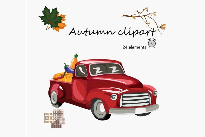 autumn clipart - autumn patterns-