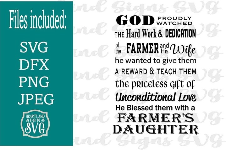 God Made A Farmer Daughter SVG