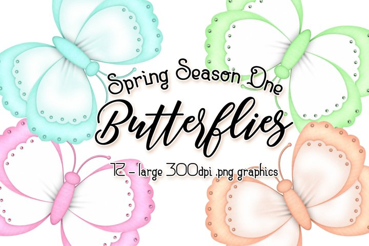 Spring Season One - Butterfly Graphics
