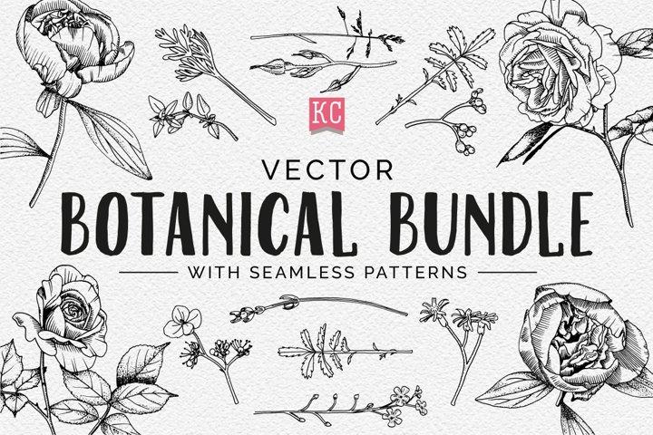 Vector Botanical Bundle Illustrations