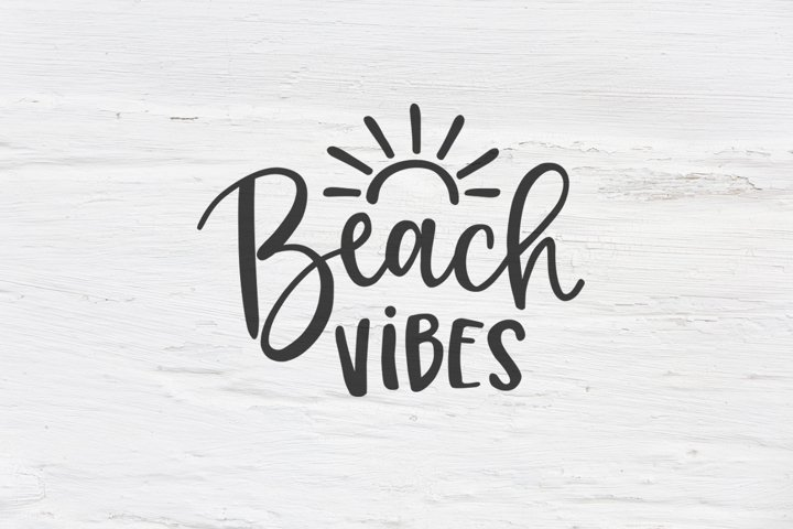 Beach vibes SVG, EPS, PNG, DXF