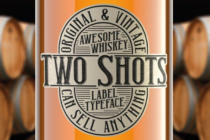Two Shots label font