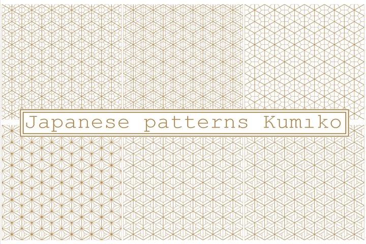 Seamless patterns in Japanese style Kumiko.