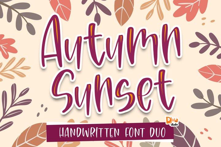 Autumn Sunset - Crafty Handwritten Font Duo