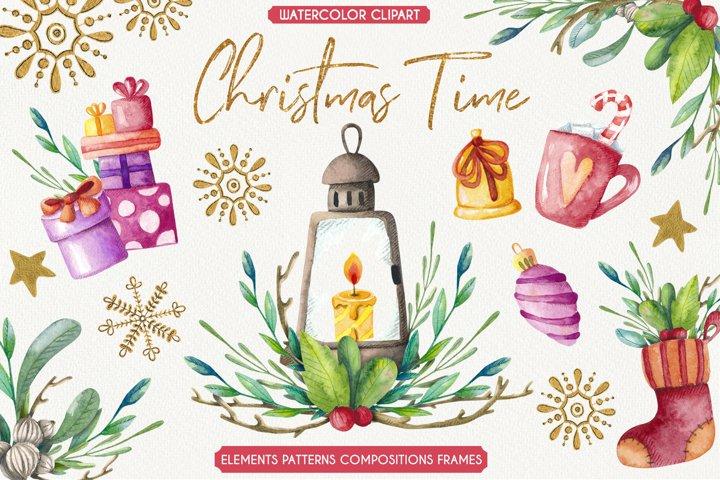 Christmas Time - Watercolor set