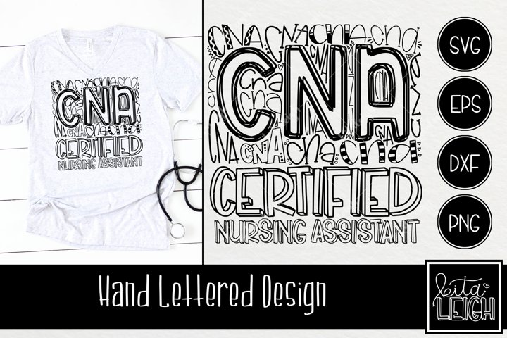 Certified Nursing Assistant CNA Typography