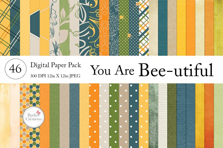 You Are Bee-utiful Paper Pack