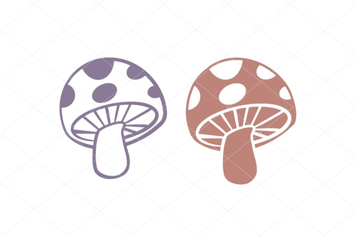 Cute Mushroom SVG Digital File Clipart Instant Download
