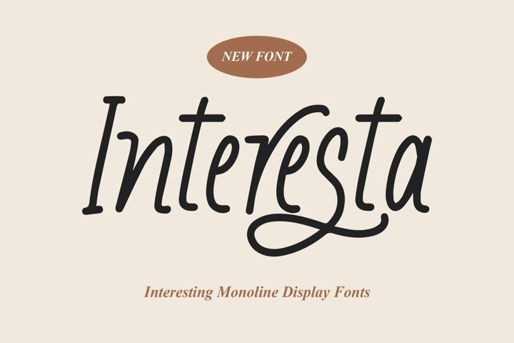 Web Font Interesta - Display Monoline Fonts