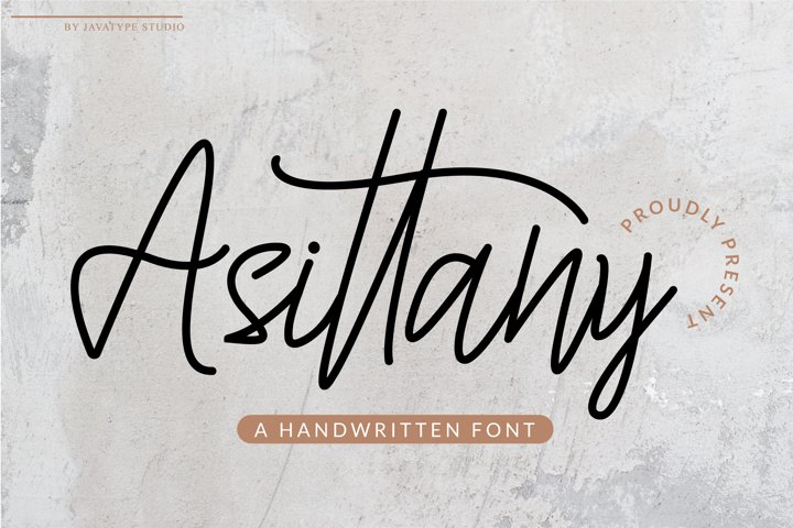 Asittany - A Handwritten Font