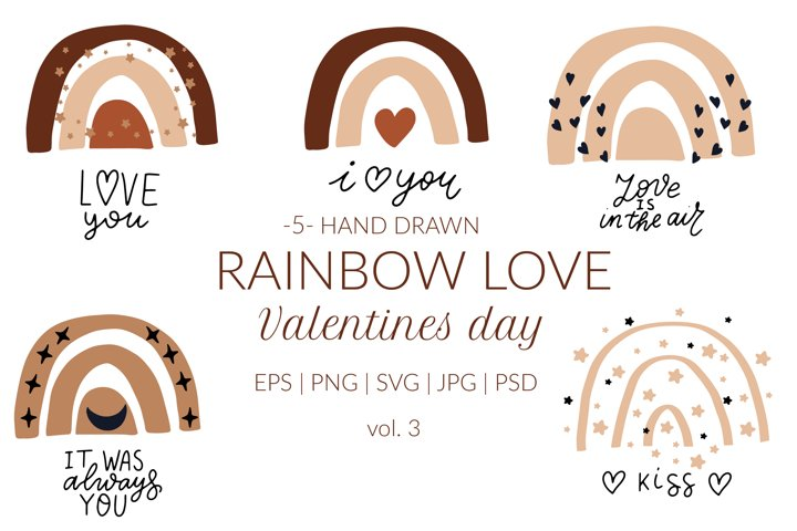 Boho rainbow svg. Valentines day svg quotes