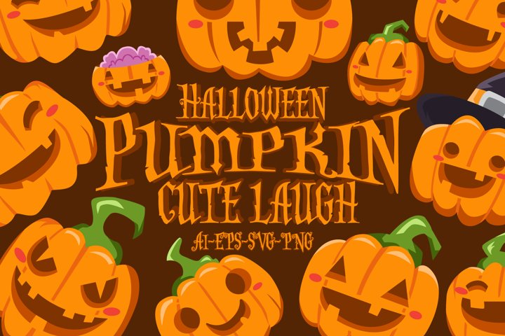 HALLOWEEN PUMPKIN CUTE LAUGH SET